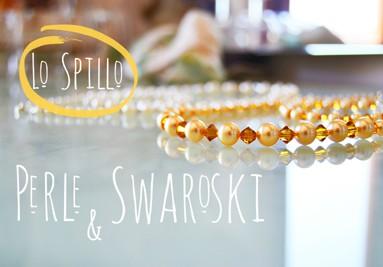 Swarovski, perle coltivate, pietre semipreziose, acciaio, bronzo, rame, oro, vetro, resine