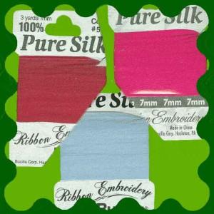 nastrino seta 7mm silk ribbon