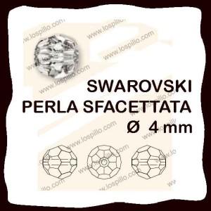 perle cristallo sfacettato 4 mm