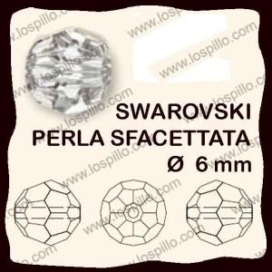 perle cristallo sfacettato 6 mm