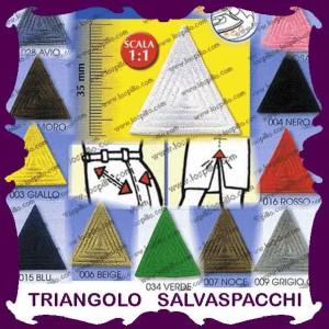 triangolo salvaspacchi ricamati